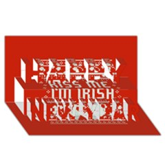 Kiss Me I m Irish Ugly Christmas Red Background Happy New Year 3d Greeting Card (8x4) by Onesevenart