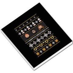 Merry Nerdmas! Ugly Christma Black Background Small Memo Pads by Onesevenart