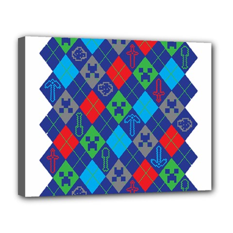 Minecraft Ugly Holiday Christmas Canvas 14  X 11  by Onesevenart