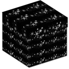 Black elegant  Xmas design Storage Stool 12   by Valentinaart