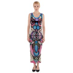 Arcturian Healing Lattice   Fitted Maxi Dress by tealswan