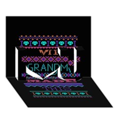 My Grandma Made This Ugly Holiday Black Background I Love You 3d Greeting Card (7x5) by Onesevenart