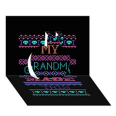 My Grandma Made This Ugly Holiday Black Background Apple 3d Greeting Card (7x5) by Onesevenart