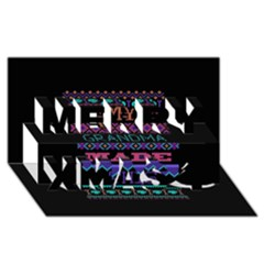 My Grandma Made This Ugly Holiday Black Background Merry Xmas 3d Greeting Card (8x4) by Onesevenart