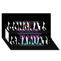 My Grandma Made This Ugly Holiday Black Background Congrats Graduate 3d Greeting Card (8x4) by Onesevenart