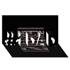 Old School Ugly Holiday Christmas Black Background #1 Dad 3d Greeting Card (8x4) by Onesevenart