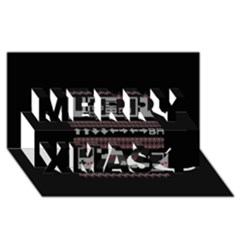 Old School Ugly Holiday Christmas Black Background Merry Xmas 3d Greeting Card (8x4) by Onesevenart