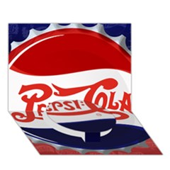 Pepsi Cola Circle Bottom 3d Greeting Card (7x5) by Onesevenart