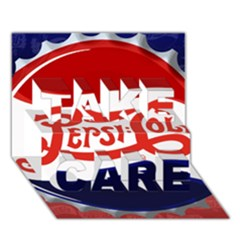Pepsi Cola Take Care 3d Greeting Card (7x5) by Onesevenart