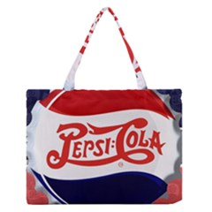 Pepsi Cola Medium Zipper Tote Bag by Onesevenart