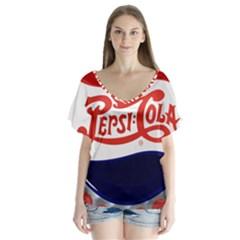 Pepsi Cola Flutter Sleeve Top by Onesevenart