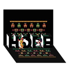 We Wish You A Metroid Christmas Ugly Holiday Christmas Black Background Hope 3d Greeting Card (7x5) by Onesevenart