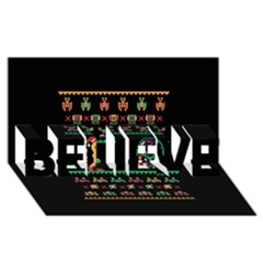 We Wish You A Metroid Christmas Ugly Holiday Christmas Black Background Believe 3d Greeting Card (8x4) by Onesevenart