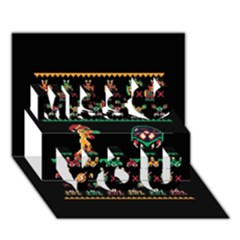 We Wish You A Metroid Christmas Ugly Holiday Christmas Black Background Miss You 3d Greeting Card (7x5) by Onesevenart