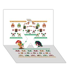 We Wish You A Metroid Christmas Ugly Holiday Christmas Ribbon 3d Greeting Card (7x5) by Onesevenart
