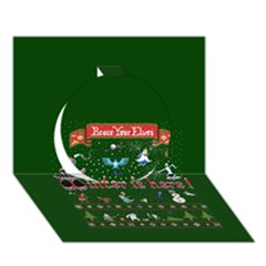 Winter Is Here Ugly Holiday Christmas Green Background Circle 3d Greeting Card (7x5) by Onesevenart