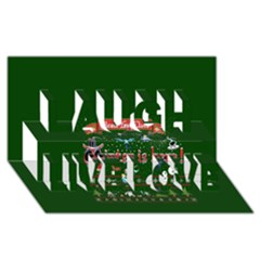 Winter Is Here Ugly Holiday Christmas Green Background Laugh Live Love 3d Greeting Card (8x4) by Onesevenart