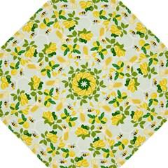 Lemon Print Fruite Juise Fress Drink Hook Handle Umbrellas (Medium) by AnjaniArt