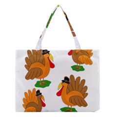 Thanksgiving Turkeys Medium Tote Bag by Valentinaart