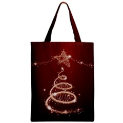 Shiny Christmas Tree Zipper Classic Tote Bag by AnjaniArt