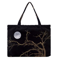 Nature Dark Scene Medium Zipper Tote Bag by dflcprints