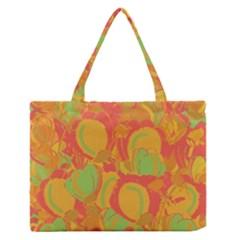 Orange garden Medium Zipper Tote Bag by Valentinaart