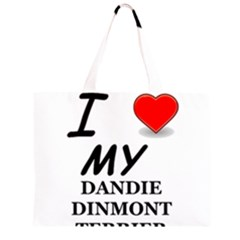 Dandie Dinmont Love Large Tote Bag by TailWags