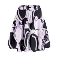 Purple abstract garden High Waist Skirt by Valentinaart