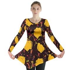 Yellow roses  Long Sleeve Tunic  by Valentinaart