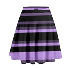 Lavender Stripes High Waist Skirt by KirstenStar