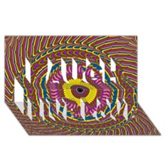 Ornament Mandala Laugh Live Love 3d Greeting Card (8x4) by designworld65