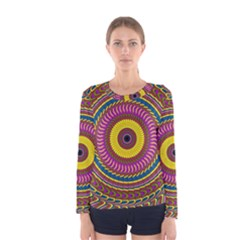 Ornament Mandala Women s Long Sleeve Tee by designworld65