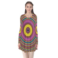 Ornament Mandala Flare Dress by designworld65