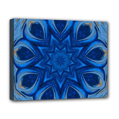 Blue Blossom Mandala Deluxe Canvas 20  X 16   by designworld65