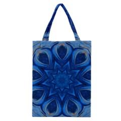 Blue Blossom Mandala Classic Tote Bag by designworld65