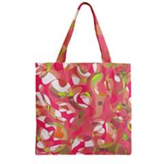 Pink Smoothie  Zipper Grocery Tote Bag by Valentinaart
