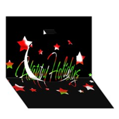 Happy Holidays 2  Circle 3d Greeting Card (7x5) by Valentinaart