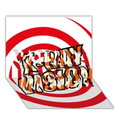 Comic Book X Ray Vision Red Spiral YOU ARE INVITED 3D Greeting Card (7x5) by ComicBookPOP