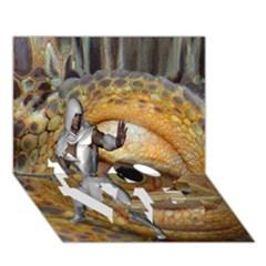 Dragon Slayer Love Bottom 3d Greeting Card (7x5) by icarusismartdesigns