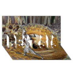 Dragon Slayer Best Sis 3d Greeting Card (8x4) by icarusismartdesigns