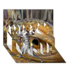 Dragon Slayer Miss You 3d Greeting Card (7x5) by icarusismartdesigns