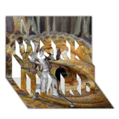 Dragon Slayer Work Hard 3d Greeting Card (7x5) by icarusismartdesigns