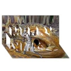 Dragon Slayer Merry Xmas 3d Greeting Card (8x4) by icarusismartdesigns
