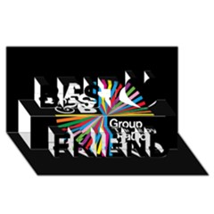 Above & Beyond  Group Therapy Radio Best Friends 3d Greeting Card (8x4) by Onesevenart
