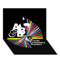 Above & Beyond  Group Therapy Radio Ribbon 3d Greeting Card (7x5) by Onesevenart