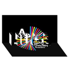 Above & Beyond  Group Therapy Radio Hugs 3d Greeting Card (8x4) by Onesevenart