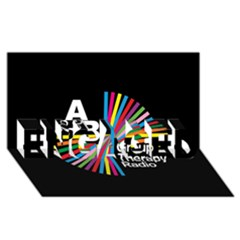 Above & Beyond  Group Therapy Radio Engaged 3d Greeting Card (8x4) by Onesevenart
