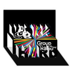 Above & Beyond  Group Therapy Radio Work Hard 3d Greeting Card (7x5) by Onesevenart
