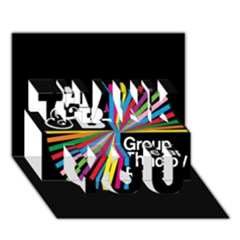 Above & Beyond  Group Therapy Radio Thank You 3d Greeting Card (7x5) by Onesevenart