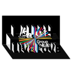 Above & Beyond  Group Therapy Radio Laugh Live Love 3d Greeting Card (8x4) by Onesevenart